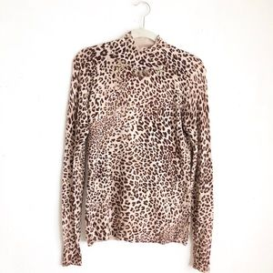 Vertigo Paris leopard print sweater sz:M animal